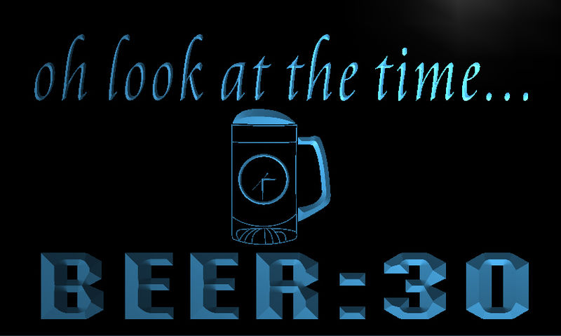Look at the time beer:30 Clock Neon Light Sign
