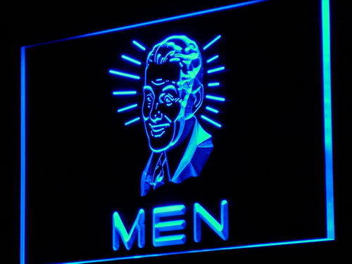 MEN Toilet Vintage Display Decor Neon Light Sign