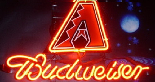 MLB Arizona Diamondbacks Budweiser Neon Sign