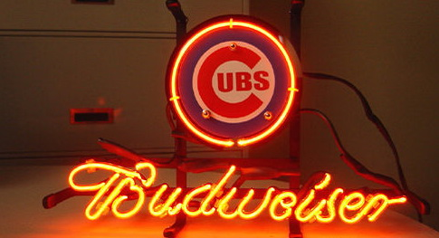 MLB Chicago Cubs Budweiser Neon Sign
