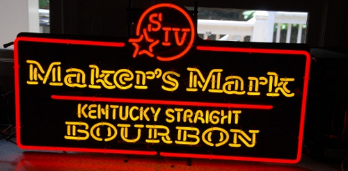 Makers Mark Bourbon Red Classic Neon Light Sign 25x18