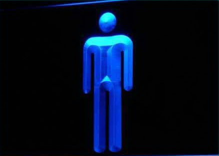 Male Men Toilet Washroom Restroom Light Sign
