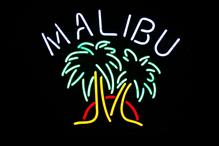 Malibu Rum Bar Classic Neon Light Sign 17 x 15