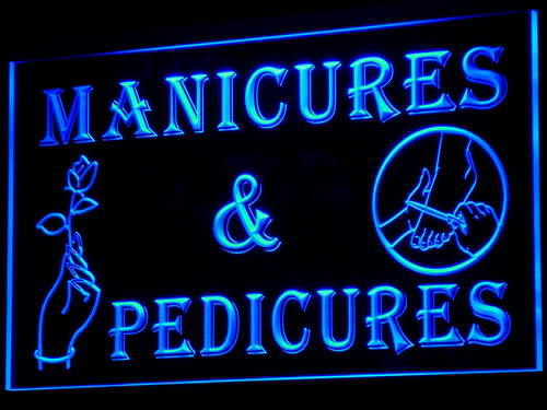 Manicures Pedicures Beauty Salon Neon Light Sign