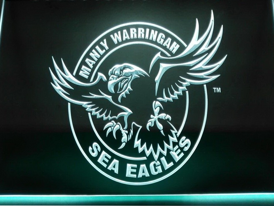 Manly Sea Eagles LED Neon Flag Sign Large NRL