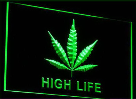 Marijuana Hemp Leaf High Life