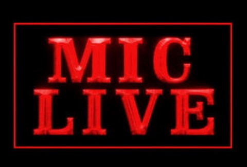 Mic Live LED Neon Sign