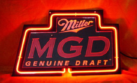 Miller MGD Neon Light Sign