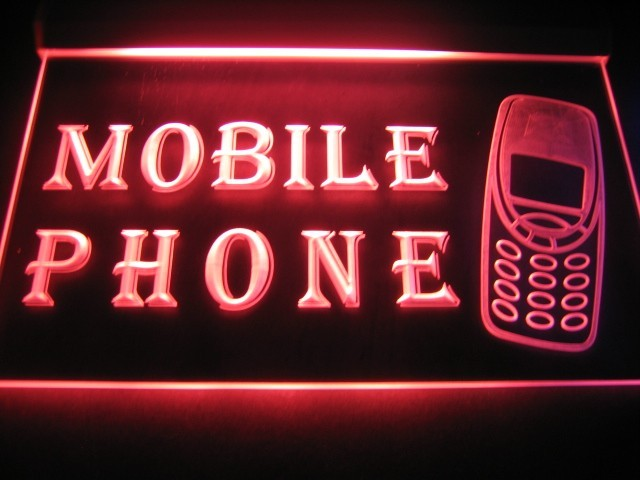 Mobile Phone Logo Neon Light Sign