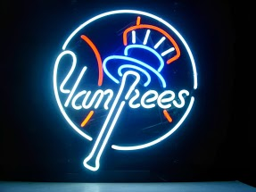 NY Yankees Hat Classic Neon Light Sign 17 x 14