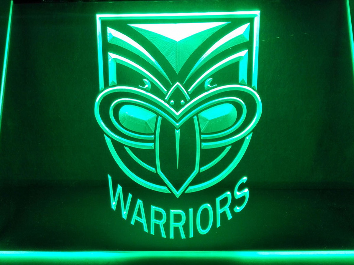 New Zealand Warriors LED Neon Flag Sign Large NRL