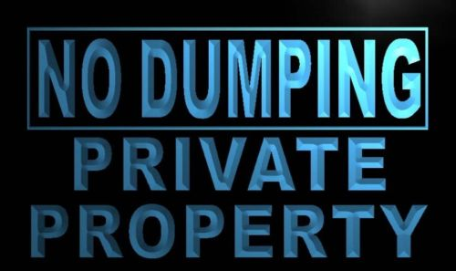 No Dumping Private Property Light Sign