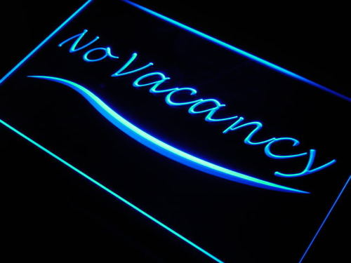 No Vacancy Hotel Motel Room Neon Light Sign