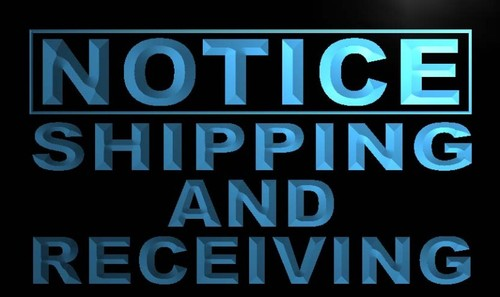 Notice Shipping and Receiving Neon Light Sign