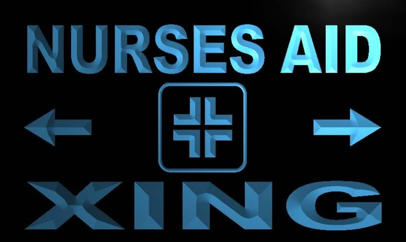 Nurse Aid Xing Neon Light Sign