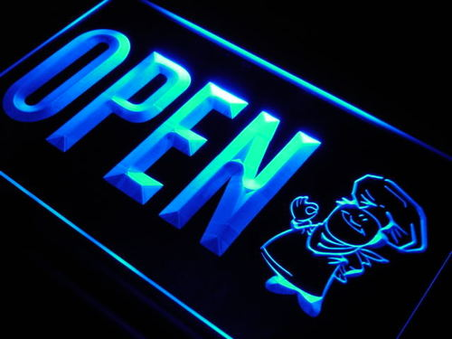 OPEN Baker Shop Cake Display Neon Light Sign