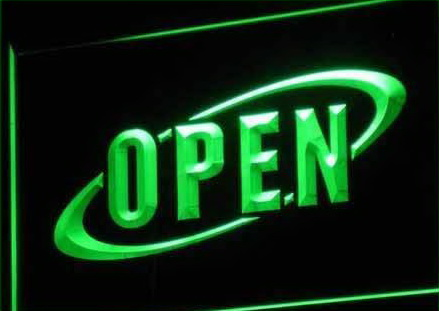 OPEN Cafe Restaurant Bar Neon Light Sign