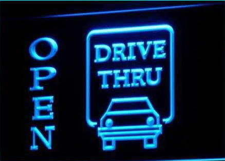 OPEN Drive Thru Displays Motel Neon Light Signs