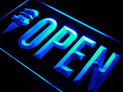 OPEN Ice Cream Cafe Shop Display Neon Light Sign