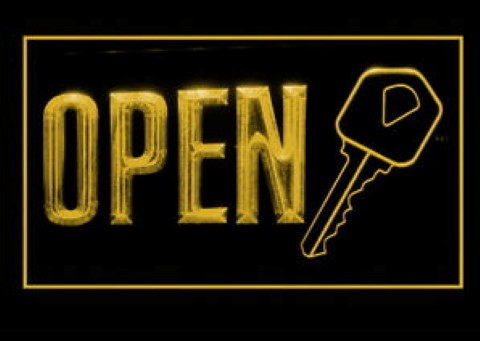 OPEN Keys Service LED Neon Sign