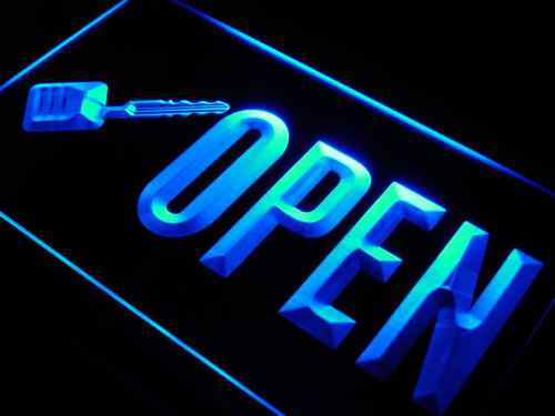 OPEN Keys Shop Cut Display Neon Light Sign
