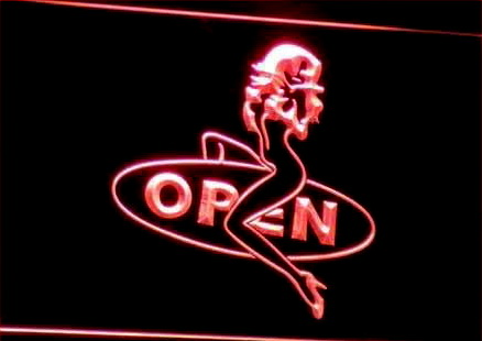 OPEN Sexy Sex Girls Pub Bar Club Neon Light Sign