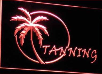 OPEN Tanning Sun Care Displays Neon Light Signs