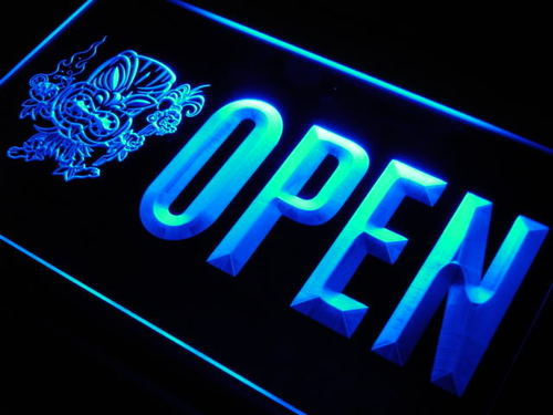 OPEN Tiki Bar Mask Beer Pub Club Neon Light Sign