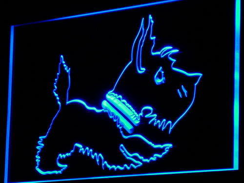 Old Fashioned Scottie Dog Shop Neon Light Sign