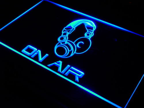 On Air Headphone Headset Studio Neon Light Sign