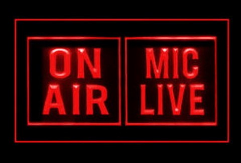 On Air Mic Live Studio 2 LED Neon Sign