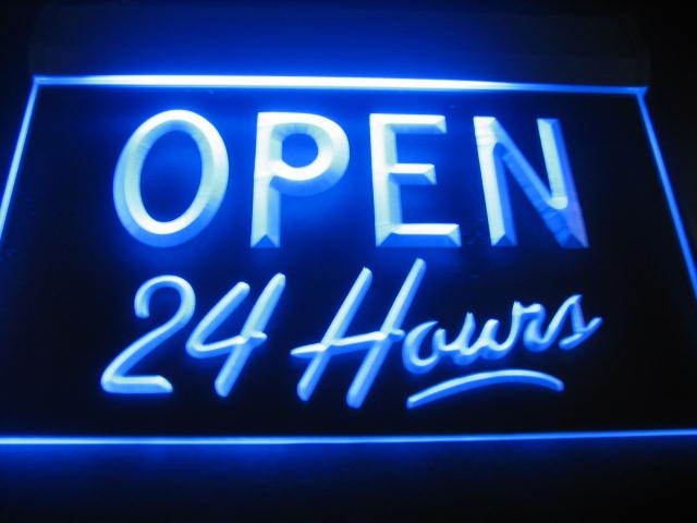 Open 24 Hours LED Light Sign