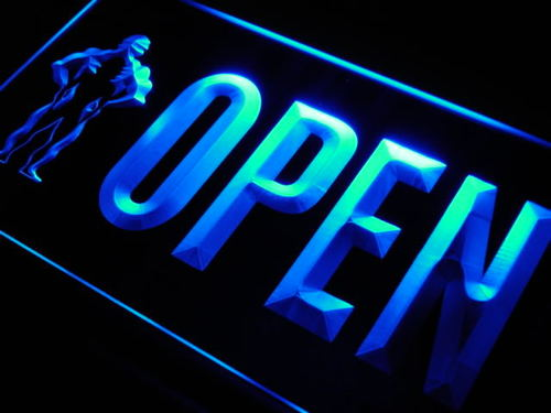 Open Gym Fitness LED Light Sign