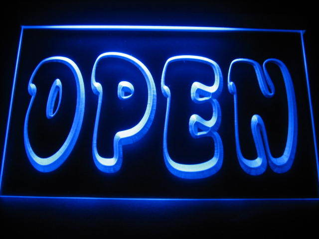 Open Logo LED Light Sign