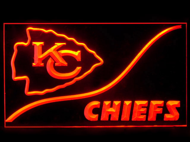 Kansas City Chiefs KC Cool Display Shop Neon Light Sign