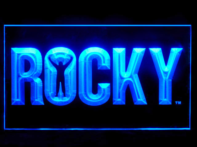 Rocky Boxing Bar Neon Light Sign