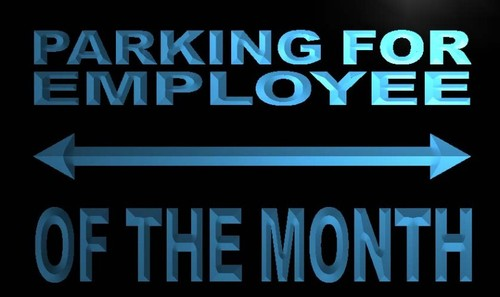 Parking For Employee of the Month Neon Sign