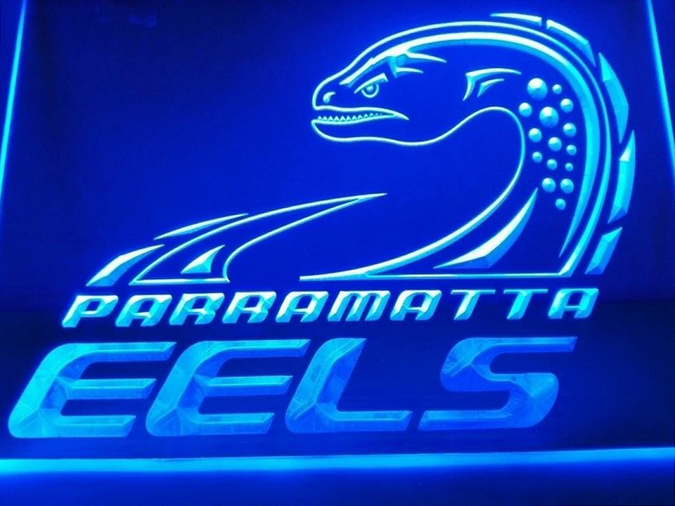 Parramatta Eels LED Neon Flag Sign Large NRL