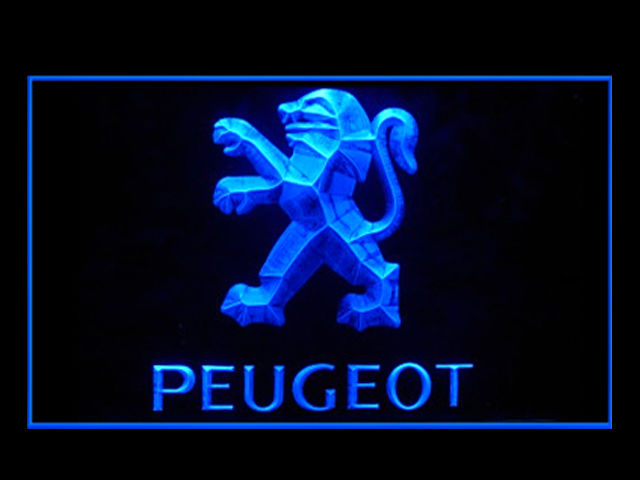 Peugeot Motors LED Light Sign