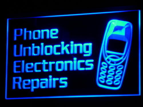 Phone Unblocking Electronics Repairs Light Sign