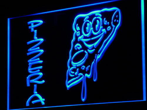 Pizzeria Shop Cafe Slice Display Neon Light Sign