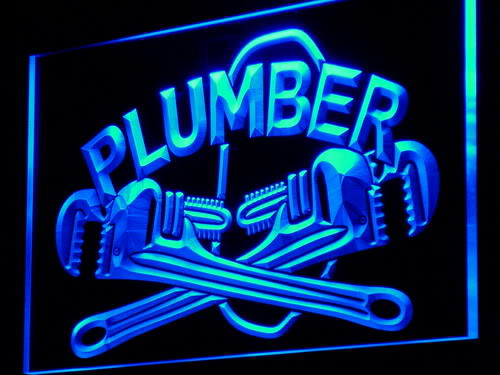 Plumber Repair Shop Display Lure neon Light Sign