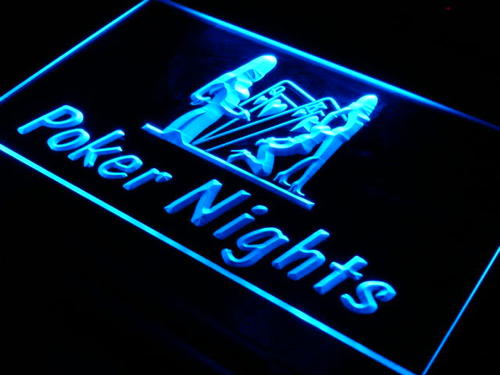 Poker Nights Game Bar Pub Gift Neon Light Sign