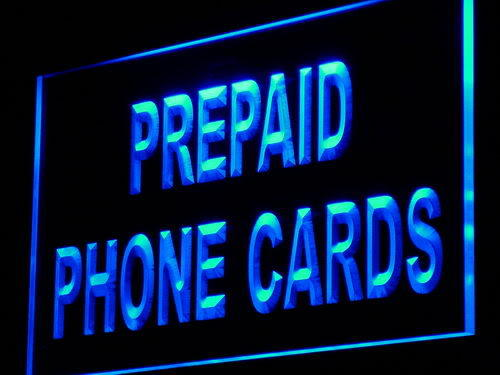 Prepaid Phone Card Shop Mobile Neon Light Sign