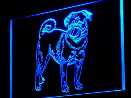 Pugs Dog Pet Shop Lure Neon Light Sign