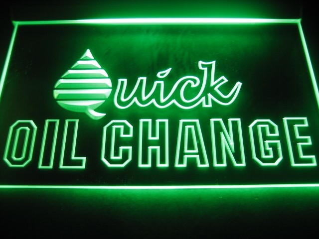 Quick Oil Change LED Light Sign