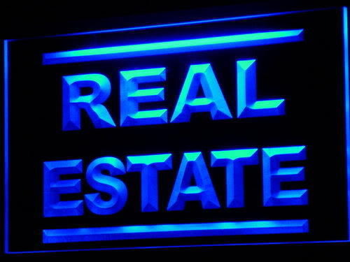 Real Estate Rent Lease Agent Neon Light Sign