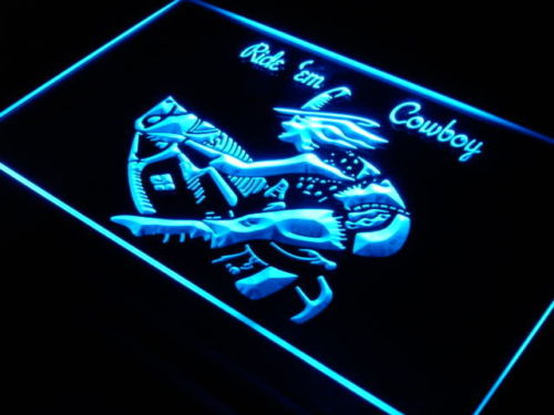 Ride em Cowboy Bar LED Sign