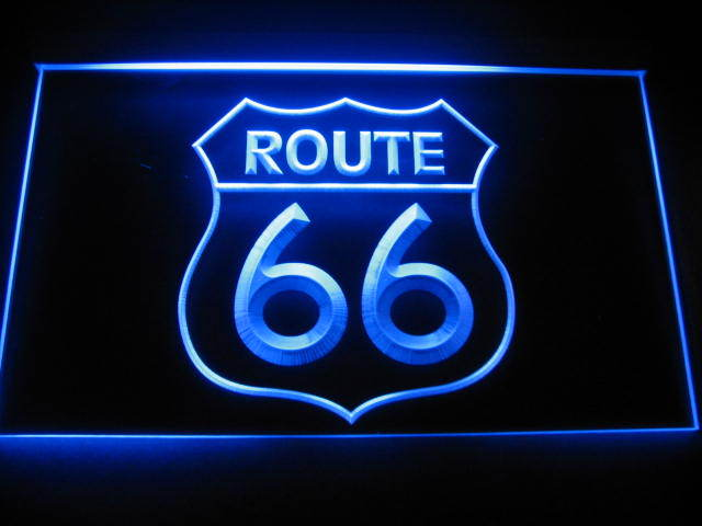 Route 66 LED Light Sign