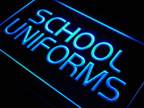 School Uniform Shop Display Lure Neon Light Sign